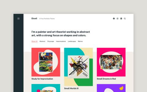 Eksell - Gratis Portfolio Wordpress Thema