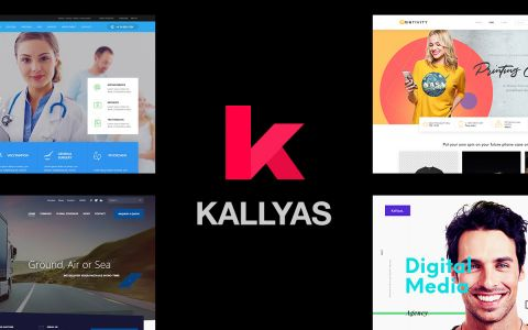 KALLYAS - Multifunctioneel WordPress Theme voor designers