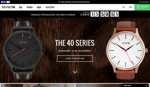 Website MVMT Watches