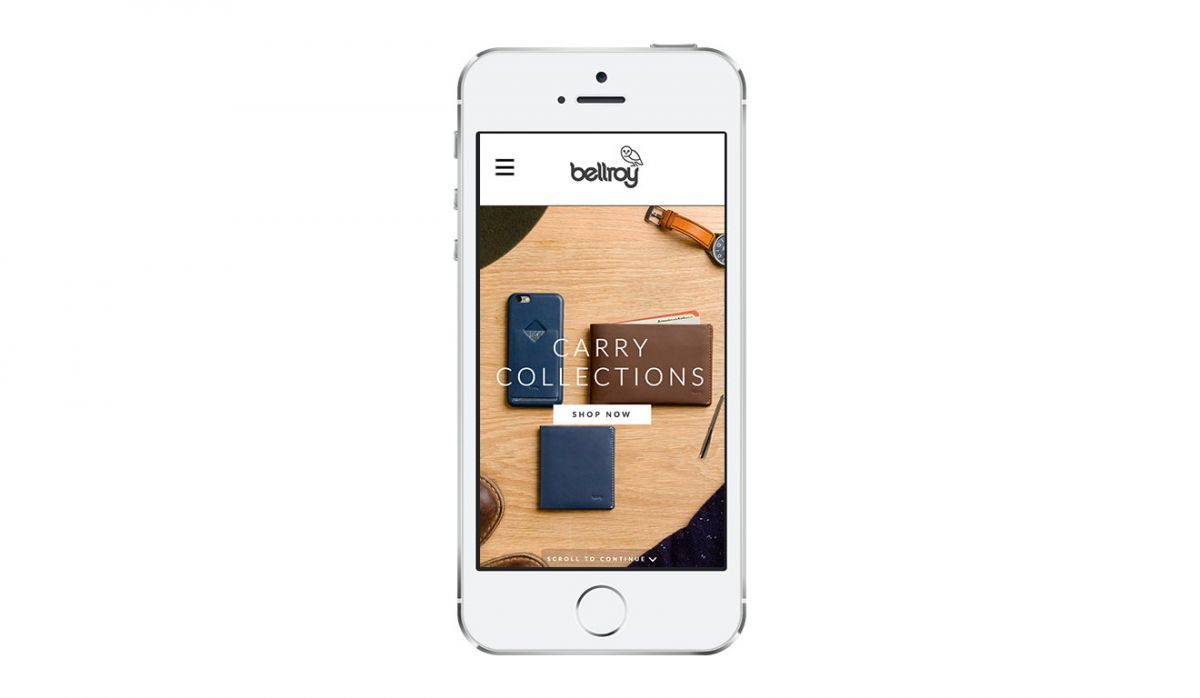 Responsive website Bellroy