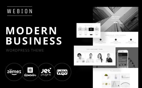 Webion - Minimalistisch Wordpress thema